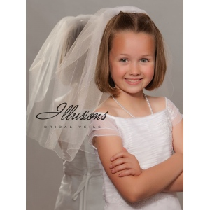 Illusions Bridal Flower Girl and First Communion Veils M-201-C
