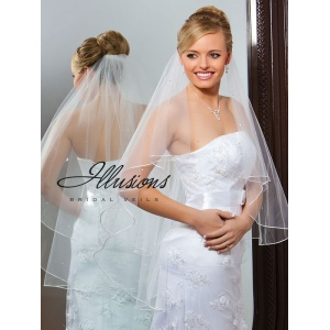 Illusions Bridal Rattail Edge Veil C7-362-RT-RS