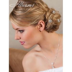 Illusions Bridal Hair Accessories 3272: Silver