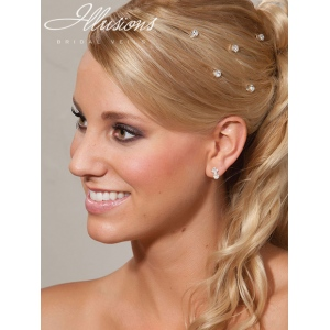 Illusions Bridal Hair Accessories 3254: Silver