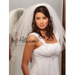 Illusions Bridal Corded Edge Veil S7-252-C: Pearl Accent