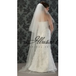 Illusions Bridal Corded Edge Veil C1-722-C: Pearl Accent