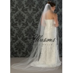 Illusions Bridal Corded Edge Veil 7-901-C: Ivory