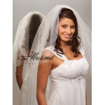 Illusions Bridal Corded Edge Veil 1-251-C: Pearl Accent