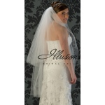 Illusions Bridal Cut Edge Veil S1-452-CT: 2 Layer Knee Length