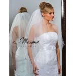 Illusions Bridal Cut Edge Veil S1-362-CT-P: Rhinestone Accent
