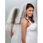 Illusions Bridal Cut Edge Veil QR7-252-CT: Pearl Accent