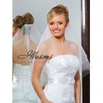 Illusions Bridal Cut Edge Veil C7-252-CT: Rhinestone Accent