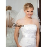 Illusions Bridal Cut Edge Veil C7-202-CT: Rhinestone Accent