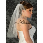 Illusions Bridal Cut Edge Veil 7-251-CT: Pearl Accent