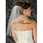 Illusions Bridal Cut Edge Veil 5-201-CT: Pearl Accent