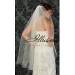 Illusions Bridal Cut Edge Veil 1-451-CT: Pearl Accent