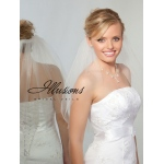 Illusions Bridal Cut Edge Veil 1-201-CT-P: Rhinestone Accent