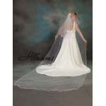 Illusions Bridal Filament Edge Veil C7-1442-F: Rhinestone Accent