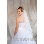 Illusions Bridal Colored Veils and Edges: Emerald Corded Edge