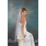 Illusions Bridal Colored Veils and Edges: Garnet Rattail Edge