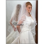 Illusions Bridal Ribbon Edge Veil C7-452-1SR