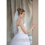Illusions Bridal Colored Veils and Edges: Royal Blue Rattail Edge