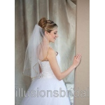 Illusions Bridal Colored Veils and Edges: Antique Gold Rattail Edge
