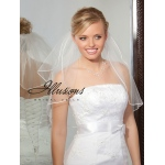 Illusions Bridal Soutache Edge Veil S5-202-ST: Rhinestone Accent