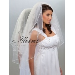 Illusions Bridal Soutache Edge Veil S1-362-ST: Rhinestone Accent