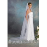 Illusions Bridal Colored Veils and Edges with Navy Blue Corded Edge 1-901-C-NB