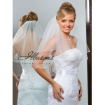 Illusions Bridal Soutache Edge Veil C7-252-ST: Pearl Accent