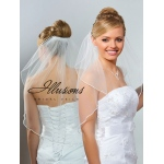 Illusions Bridal Soutache Edge Veil 7-251-ST: Pearl Accent