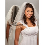Illusions Bridal Pearl Edge Veil 1-201-P: Pearl Accent