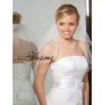 Illusions Bridal Rattail Edge Veil S5-202-RT: Rhinestone Accent