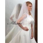 Illusions Bridal Rattail Edge Veil S1-452-RT: Pearl Accent