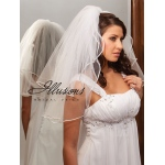 Illusions Bridal Rattail Edge Veil S1-252-RT: Rhinestone Accent