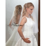 Illusions Bridal Rattail Edge Veil D7-452-RT: Rhinestone Accent