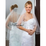 Illusions Bridal Rattail Edge Veil C7-362-RT-RS: Rhinestone Accent