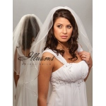 Illusions Bridal Rattail Edge Veil 7-301-RT: Rhinestone Accent