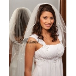 Illusions Bridal Rattail Edge Veil 1-251-RT: Pearl Accent
