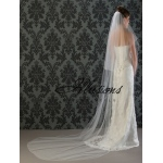 Illusions Bridal Corded Edge Veil C7-1082-C: Rhinestone Accent