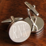 JDS Personalized Pin Stripe Cufflinks