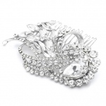 Mariell Dramatic Art Deco Crystal Wedding Or Prom Hair Comb