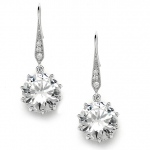 Mariell Bridal, Prom Or Bridesmaids Bling CZ Drop Earrings
