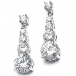 Mariell CZ Graduated Dangle Bridal Earrings