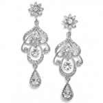 Mariell Abstract Wedding Chandelier Earrings