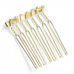 "Mariell Gold Comb Adapter for Brooches: 1 1/8"" Wide"