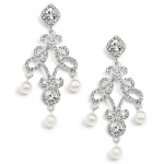 Mariell Vintage Wedding Chandelier Earrings