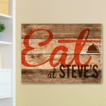 JDS Customized Canvas Print: Wood Restaurant Sign