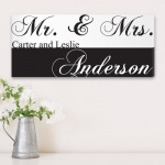 JDS Canvas Print: Mr. & Mrs. Couples