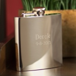JDS Personalized Flask: Stainless Steel, High Polish, 7 oz.