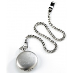 JDS Personalized Pocket Watch: Silver Brushed