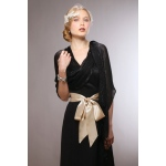 Mariell Luxurious Mesh Evening Or Prom Wrap: Black