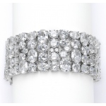 Mariell Couture Cubic Zirconia Wedding Or Pageant Bracelet in Faux Diamond Bling